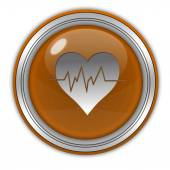 Heart circular icon on white background — Foto de Stock