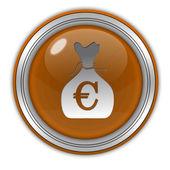 Euro money bag circular icon on white background — Stock Photo