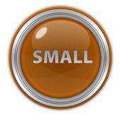Small circular icon on white background — Stock Photo