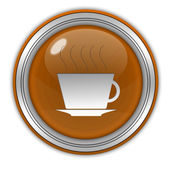 Coffee circular icon on white background — Stock Photo