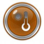 Sun circular icon on white background — Stock Photo