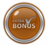 Bonus circular icon on white background — Stock Photo
