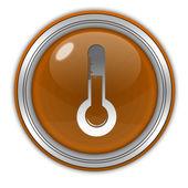 Temperature circular icon on white background — Stock Photo