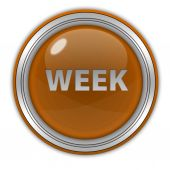 Week circular icon on white background — Стоковое фото