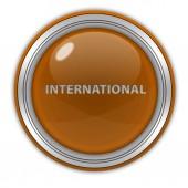 Icona internazionale circolare su priorità bassa bianca — Foto Stock