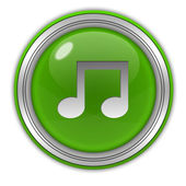 Music circular icon on white background — Stock Photo