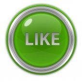 Like circular icon on white background — Stock Photo