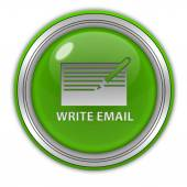Icona circolare e-mail su sfondo bianco — Foto Stock