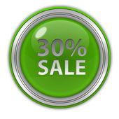 Sale thirty percent circular icon on white background — Stock Photo
