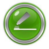 Tooth brush circular icon on white background — Stock Photo