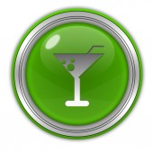 Drink circular icon on white background — Stock Photo
