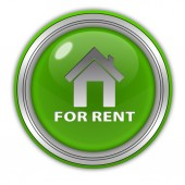 For rent circular icon on white background — Stock Photo