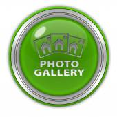 Photo gallery circular icon on white background — Stock Photo