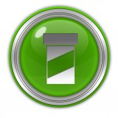 Pill circular icon on white background — Foto de Stock