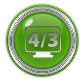 4 3 movie circular icon on white background — Stock Photo