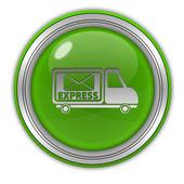 Express circular icon on white background — Stock Photo