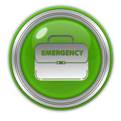 Emergency circular icon on white background — Stock Photo
