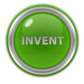 Invent circular icon on white background — Stock Photo