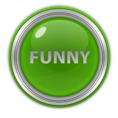 Funny circular icon on white background — Stock Photo