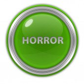 Horror circular icon on white background — Zdjęcie stockowe