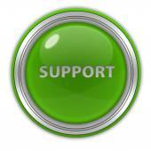 Support circular icon on white background — ストック写真