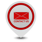 Contact us pointer icon on white background — Stock Photo
