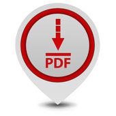 Pdf download pointer icon on white background — Stock Photo