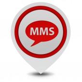 MMS pekaren ikon på vit bakgrund — Stockfoto
