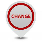 Change pointer icon on white background — Stock Photo
