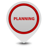 Planning pointer icon on white background — Foto de Stock