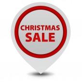 Christmas sale pointer icon on white background — Stock Photo