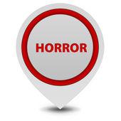 Horror pointer icon on white background — Stockfoto