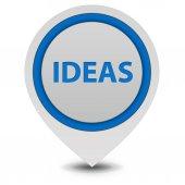Ideas  pointer icon on white background — Stock Photo