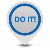 Do it pointer icon on white background — Stock Photo