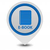 E-book pointer icon on white background — Foto Stock