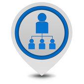 Hierarchy pointer icon on white background — Stock Photo