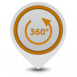 360 degrees pointer icon on white background — Stock Photo #67468235