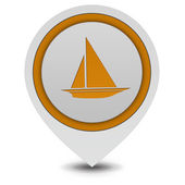 Boat pointer icon on white background — Stock Photo