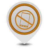 Phone ban pointer icon on white background — Stock Photo