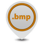 .bmp pointer icon on white background — Stockfoto