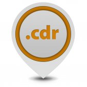 .cdr pointer icon on white background — Fotografia Stock