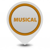 Musical pointer icon on white background — Stock Photo