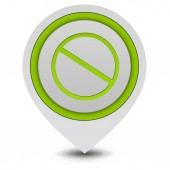 Ban pointer icon on white background — Zdjęcie stockowe
