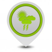 Rain pointer icon on white background — Stock Photo