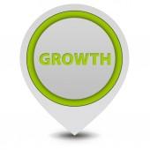 Growth pointer icon on white background — Zdjęcie stockowe