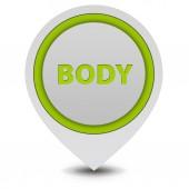 Vücut işaretçi simgesi beyaz arka plan üzerinde — Stok fotoğraf