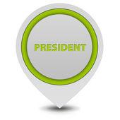 President pointer icon on white background — Стоковое фото
