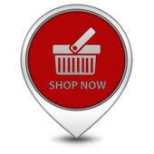 Köp nu pekaren ikon på vit bakgrund — Stockfoto