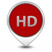 HD pointer icon on white background — 图库照片