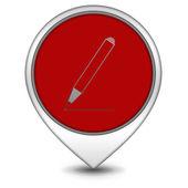 Pencil pointer icon on white background — Stock Photo